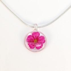 pendentif spirée rose (S)
