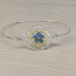 Bracelet Myosotis et fleur...